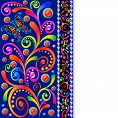 image of precious stone  - illustration background with swirls butterfly and precious stones - JPG