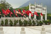 picture of lantau island  - gateway on the approach to Po Lin buddhist monastery - JPG