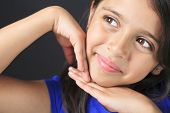 picture of sissi  - A Columbian Little Girl Fun Look in front of a black background - JPG