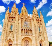 pic of sacred heart jesus  - Temple on top of Mount Tibidabo the Temple of the Sacred Heart - JPG