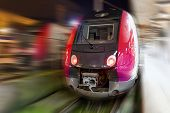 stock photo of passenger train  - Modern Fast Passenger Train - JPG