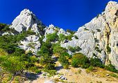 image of promontory  - South part of Crimea peninsula mountains Ai - JPG