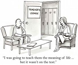 foto of not talking  - Cartoon of two teachers talking - JPG