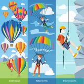 image of parachute  - Happy peoples plans with parachute - JPG