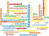 pic of loneliness  - Background concept wordcloud multilanguage international many language illustration of loneliness - JPG