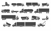 stock photo of truck-cabin  - Different trucks - JPG
