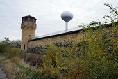 foto of weed  - A back corner of the old Joliet Prison - JPG