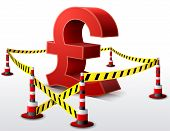 foto of tariff  - Dangerous money sign surrounded barrier tape - JPG
