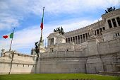 picture of emanuele  - The Piazza Venezia Vittorio Emanuele in Rome Italy - JPG