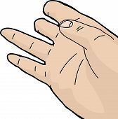 foto of human rights  - Cartoon of human right hand missing top fingers - JPG