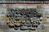 picture of hindu  - Fresco Hindu temple complex in Bali indonesia - JPG