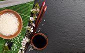 image of soy sauce  - Japanese sushi chopsticks - JPG