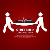 pic of stretcher  - Medical Workers Moving Patient On Stretcher Vector Illustration - JPG