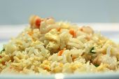 picture of scrambled eggs  - Chinese rice with shrimps with egg scramble - JPG