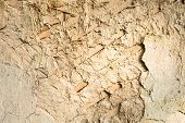 picture of mud-hut  - Cracked wall surface of the old wattle and daub house - JPG