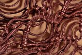 pic of macrame  - Macrame leather belts close up as background - JPG