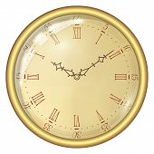 pic of analogy  - Analog Clock Isolated on a White Background - JPG