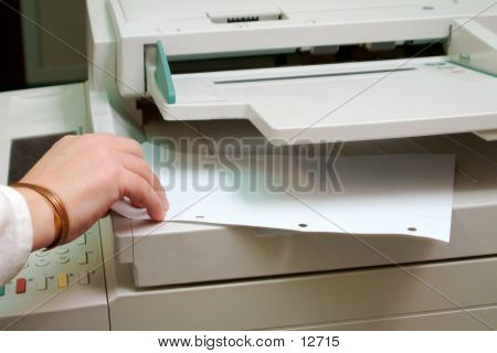 Picture or Photo of Person using photocopier