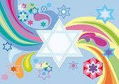 stock photo of sukkoth  - Abstract background from the stars of David - JPG