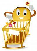 stock photo of baby face  - Baby Crib  - JPG