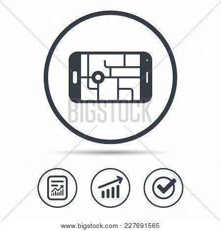 Gps Street Navigation Icon Smartphone