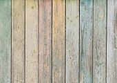 wood background or texture with pastel colored planks poster