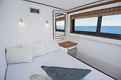 Cabin In A Luxury Private Motor Yacht poster