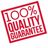 100 Percent Quality Guarantee Typographic Stamp. Typographic Sign, Badge Or Logo. poster