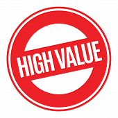 High Value Typographic Stamp. Typographic Sign, Badge Or Logo. poster