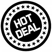 Hot Deal Typographic Stamp. Typographic Sign, Badge Or Logo. poster