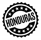 Honduras Typographic Stamp. Typographic Sign, Badge Or Logo poster