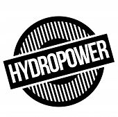 Hydropwer Typographic Stamp. Typographic Sign, Badge Or Logo poster