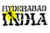 Hyderabad Typographic Stamp. Typographic Sign, Badge Or Logo poster
