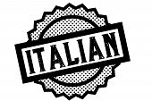 Italian Typographic Stamp. Typographic Sign, Badge Or Logo poster