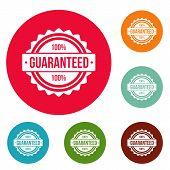 Guaranteed Logo. Simple Illustration Of Guaranteed Vector Logo For Web poster
