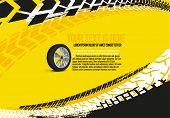 Vector Automotive Banner Template. Grunge Tire Tracks Backgrounds For Landscape Poster, Digital Bann poster