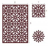 Vector Laser Cut Panel, The Seamless Eastern Pattern For Decorative Panel. Image Suitable For Engrav poster