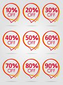 Special Offer Sale Red Tag Isolated Vector Illustration. Discount Offer Price Label, Symbol For Adve poster