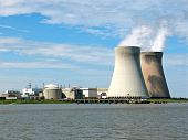 pic of reactor  - A nuclear power plant at the river Scheldt in Belgium - JPG