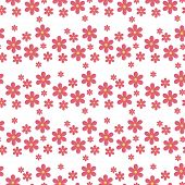 Floral Pattern Vector Seamless With Flowers Gentle Spring Flora Wallpaper Textile Design Nature Blos poster