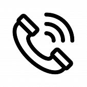 Call Icon Isolated On White Background. Call Icon Modern Symbol For Graphic And Web Design. Call Ico poster