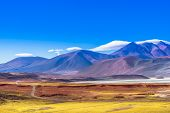 View On Lagoon Piedra Rojas In The Desert Of Atacama In Chile poster