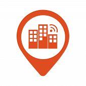 City Locator Design Vector Template. Pin Maps Symbol Vector . Gps Icon Design Vector. Simple Clean D poster