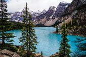 Fabulous Turquoise Lake On The Background Of An Idyllic Mountain Landscape, Germany. poster