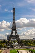 View On Eiffel Tower In Paris. Sunni Day In Paris. Stunning Eiffel Tower In Paris. Vacation In Paris poster