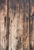 Wooden Boards. Light Wooden Textured Old Boards In Which Several Nails Are Driven. It Is Evident Tha poster