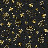 Christmas Seamless Pattern. New Year Pattern. Winter Pattern. poster