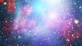 Blue Dark Night Sky With Many Stars. Milky Way On The Space Background . Milky Way Galaxy With Stars poster