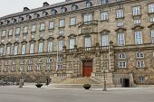 Wide Angle View Of The Main Building And The Platz In Front Of Christiansborg Slot Copenhagen, Denma poster