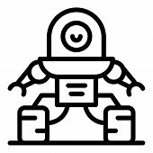 Fantasy Robot Icon. Outline Fantasy Robot Vector Icon For Web Design Isolated On White Background poster